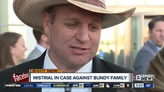 Ammon Bundy talks about mistrial in standoff case - Video