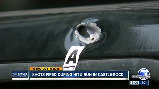 Drivers shot at in Castle Rock after following hit-and-run vehicle - Video