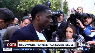 NFL players and owners talk social issues and anthem protests - Video
