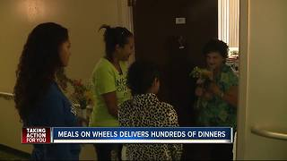 Meals on Wheels delivers hundred of dinners - Video