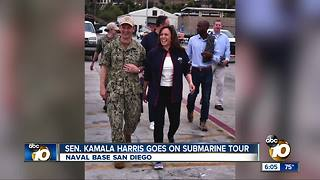 Sen. Kamala Harris goes on submarine tour - Video