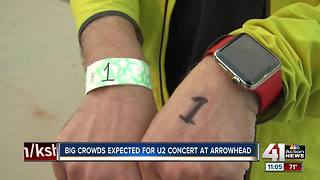 Large crowd expected for U2 concert at Arrowhead - Video