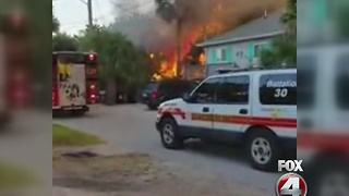 Flames engulf FMB home - Video