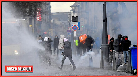 Third world African Migrants loot shops during illegal #BlackLivesMatter protests in Liege, Belgium