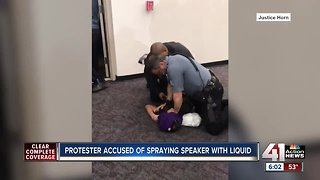 UMKC student charged with assault from arrest during protest
