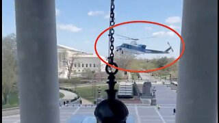 BREAKING: Helicopter Lands Outside U.S. Capitol In UNREAL Footage