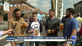 Denver Beer Fest, Oktoberfest take over downtown Denver - Video