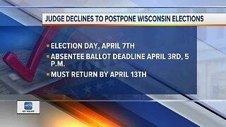 Judge won't delay Wisconsin election but extends voting