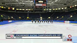 Synchronized skating competition comes to Estero - Video