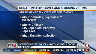 Donations for Harvey and Southwest Florida flooding victims - Video