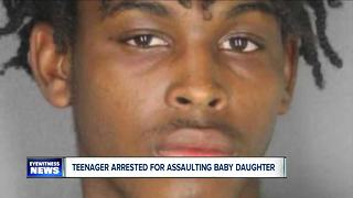 Teen father accused of assaulting baby daughter - Video