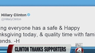 Hillary Clinton thanks supporters