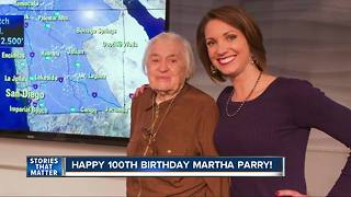 Megan Parry's grandmother celebrates 100th birthday - Video