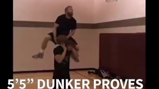 """5'5"""" Dunker Proves You Don't Have To Be Tall To Dunk - Video"""