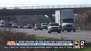 Police emphasize move over law ahead of busy holiday travel season - Video