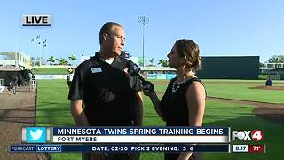 The Minnesota Twins get ready for the spring training home opener - Video