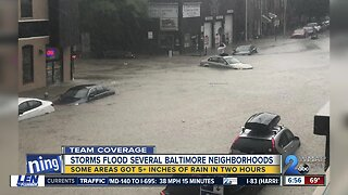 Massive cleanup ahead following last night's storm that flooded parts of Baltimore