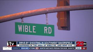 Drive-by shooting in Southwest Bakersfield leaves one man with moderate injuries - Video