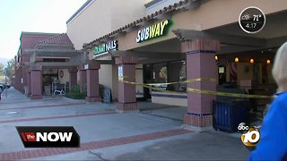 Car slams into Escondido Subway