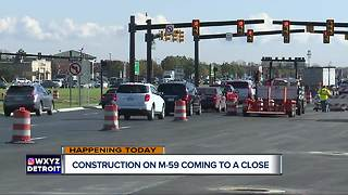 Construction on M-59 coming to a close - Video