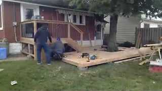 Timelapse Shows DIY Deck Being Built - Video