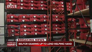 Belfor gearing up to lend a helping hand with Hurricane Harvey - Video