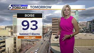 A chance for isolated storms continues into Wednesday - Video