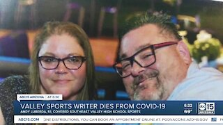 Valley high school sports writer dies from COVID-19