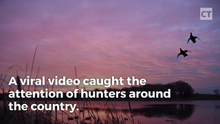 Video Captures Hunter Bagging Duck Without Firing a Single Shot