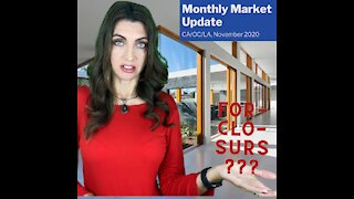Monthly Market Update for November 2020 in California, Orange and Los Angeles Counties