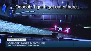Video shows officer rescue elderly man who drove into West Bloomfield pond