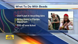 What do to with your Gasparilla beads