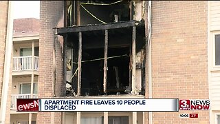10 Displaced After Fire