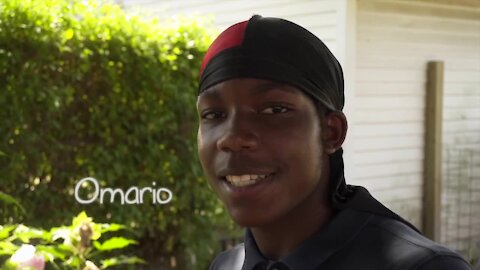 15-year-old Omario – a BMX biker, outdoor enthusiast and dog lover – hopes to be adopted soon