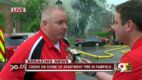 Dozens displaced by Fairfield apartment fire