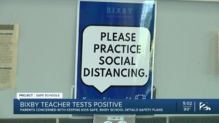 Bixby teacher tests positive for COVID-19