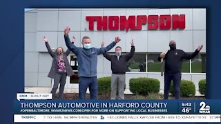 """Thompson Automotive in Harford County says """"We're Open Baltimore!"""""""