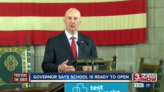 Gov. Ricketts says schools ready to reopen