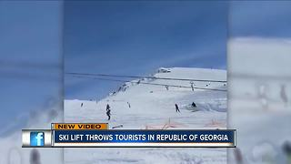 Shocking video shows ski lift violently throwing people off at high speeds - Video