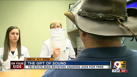 Man receives free hearing aids for Christmas