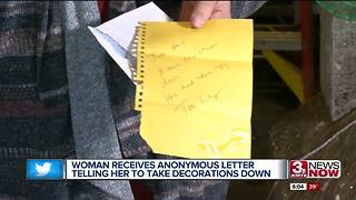 Louisville woman gets letter telling her to take down Christmas display - Video