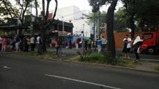 Morning Earthquakes Send Mexico City Residents into the Streets - Video