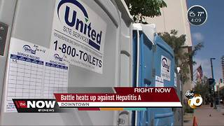 Battle heats up against Hepatitis A outbreak in San Diego - Video