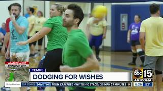 Charity dodgeball game benefits Make-A-Wish Foundation - Video