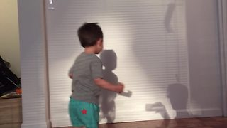 """""""Toddler Boy Tries To Escape His Shadow And Then Gives It A Kiss"""""""
