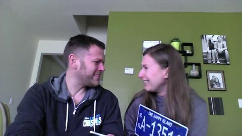 Wife surprises husband with tearful pregnancy announcement