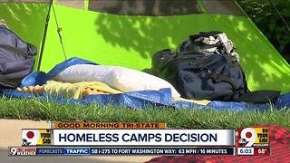 Judge considers arguments in homeless camps case - Video
