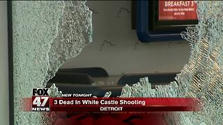 Triple fatal shooting at White Castle on Detroit's west side - Video