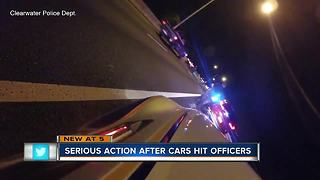 Serious action after cars hit Clearwater officers
