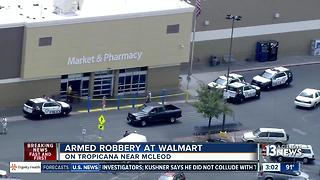 Walmart robbed near Tropicana and McLeod - Video